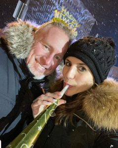 Alicia Linklater selfie with husband Mike Penny on new years eve - 2020